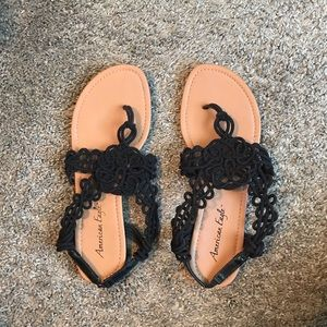 American Eagle by Payless Black Sandals.